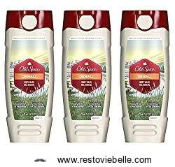 Old Spice Fresher all-natural body wash