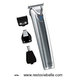 Wahl Stainless Steel Lithium Ion Beard and Nose Trimmer for Men