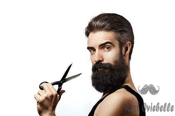 bearded man holding scissors and wearing undershirt on white background - thicker mustache s and pictures Thicker Mustache Set the desired patterns