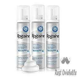 Rogaine 5% Minoxidil Foam for Men Better Hair Growth and Thicker Mustache