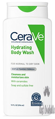 cerave body wash for dry skin 10 ounce moisturizing body wash with hyaluronic acid sulfate fragrance free 1