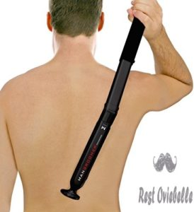 Shave Back Hair with a Back Shaver