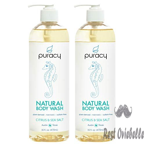 puracy natural body wash citrus sea salt sulfate free bath and shower gel 16 ounce 2 pack 1