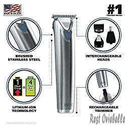 Wahl Stainless Steel Beard Trimmer #9818 1