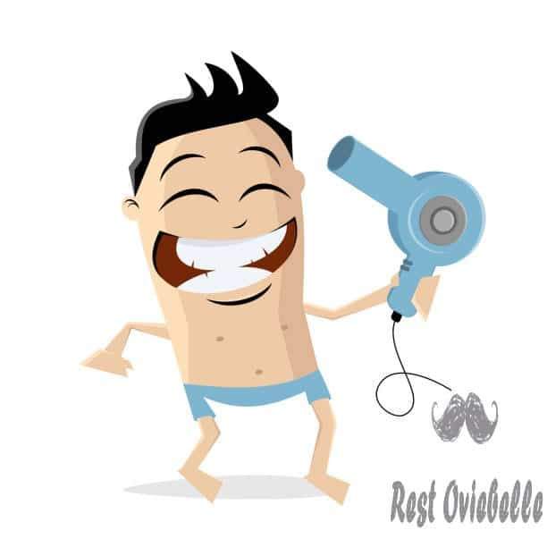 funny cartoon man using hair dryer - hair dryers for men stock illustrations clip art cartoons & icons Things To Consider When Buying A Hair Dryer