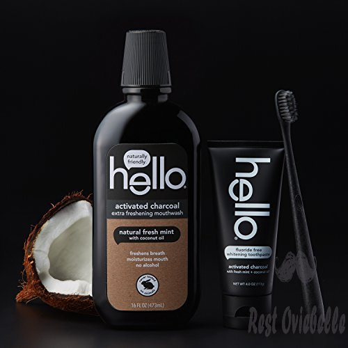 Hello Oral Care Activated Charcoal Mouthwash 1