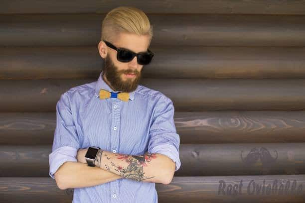 hipster with crossed arms - beard dye s and pictures Why Would You Want To Dye Your Beard