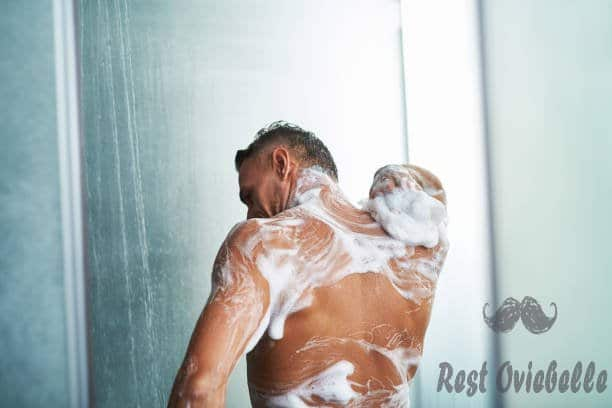 naked gentleman with foam on his body taking shower at home - body wash s and pictures Dry Skin And Stop Itching And Cracking
