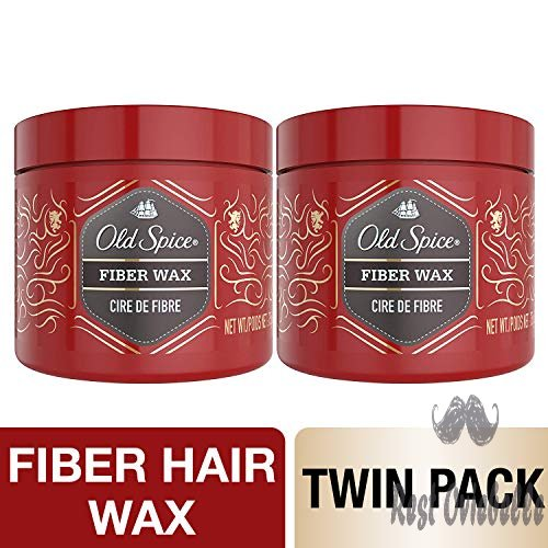 Old Spice Fiber Hair Wax Style for Men, Twin Pack