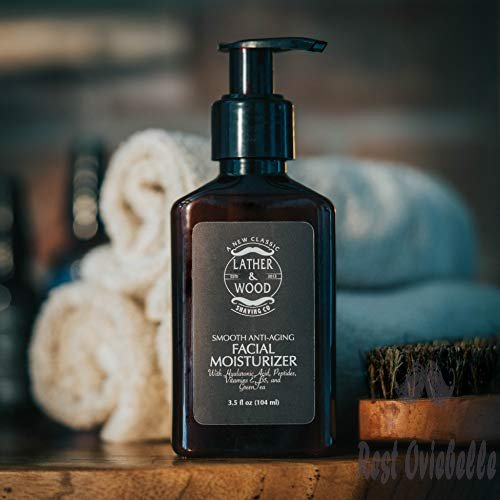 Lather and Wood Face Moisturizer for Men