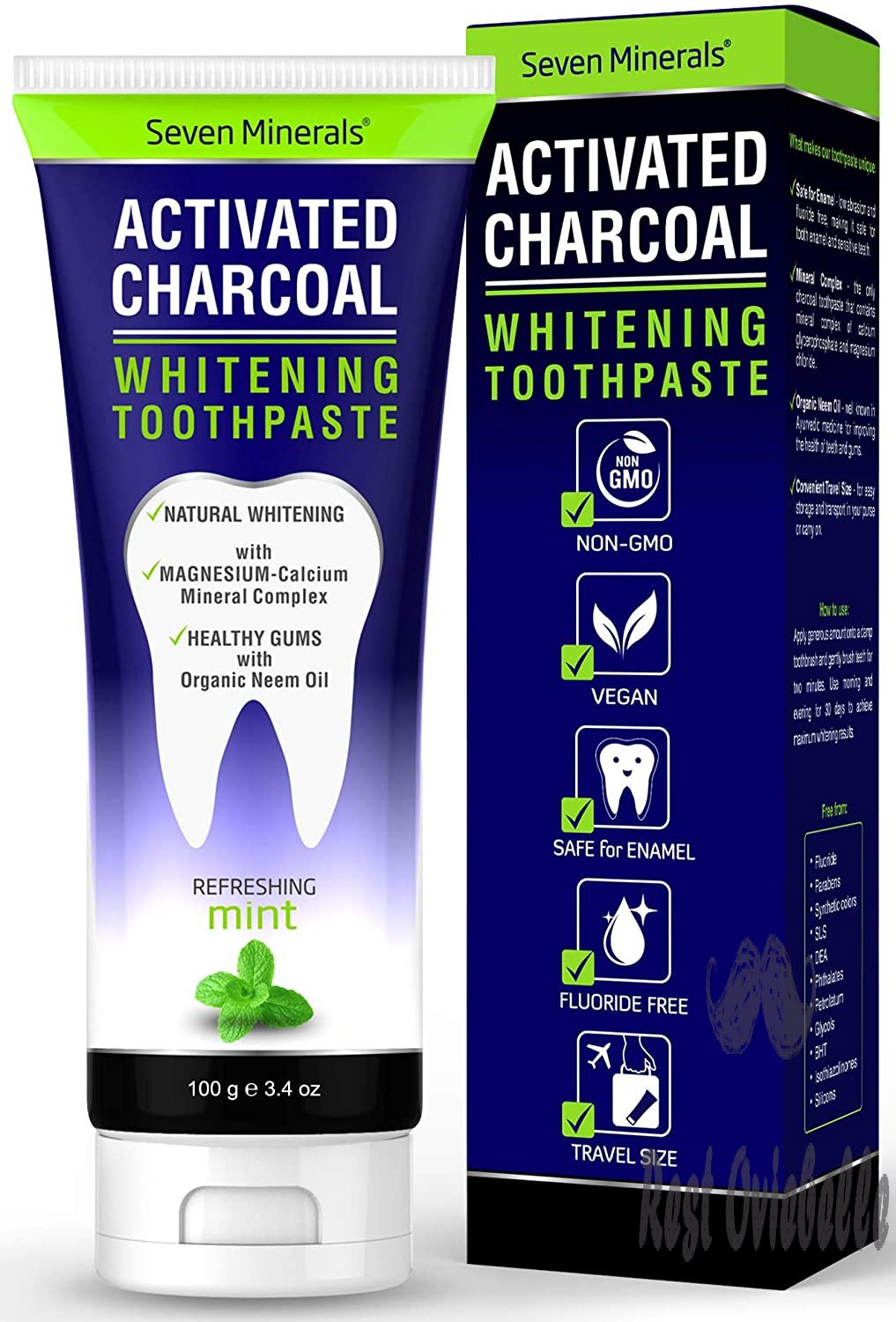 #1 Remineralizing Activated Charcoal Toothpaste