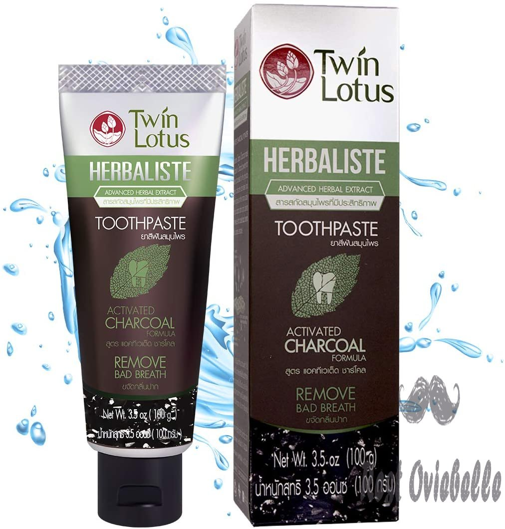 TWIN LOTUS Charcoal Toothpaste Non