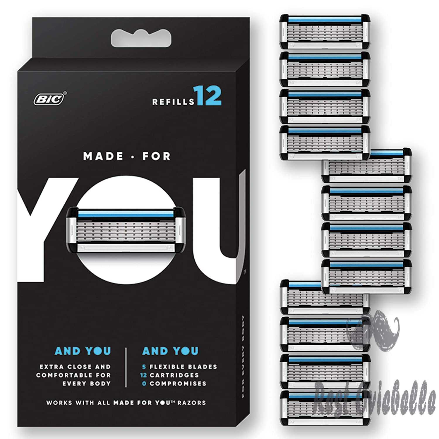 Made For You By Bic Shaving Razor Blades For Men And Women