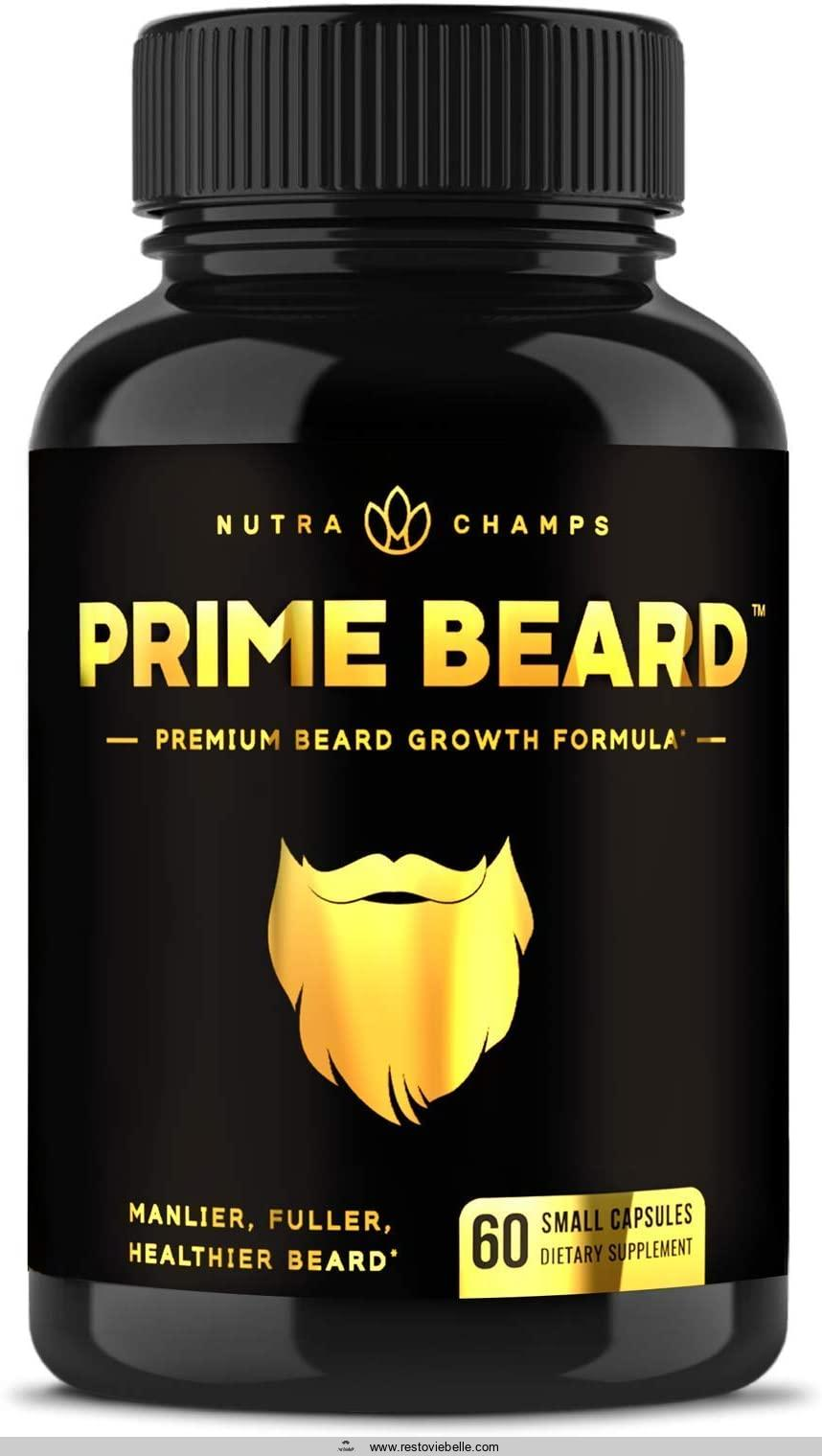 Beard Growth Vitamins Supplement for