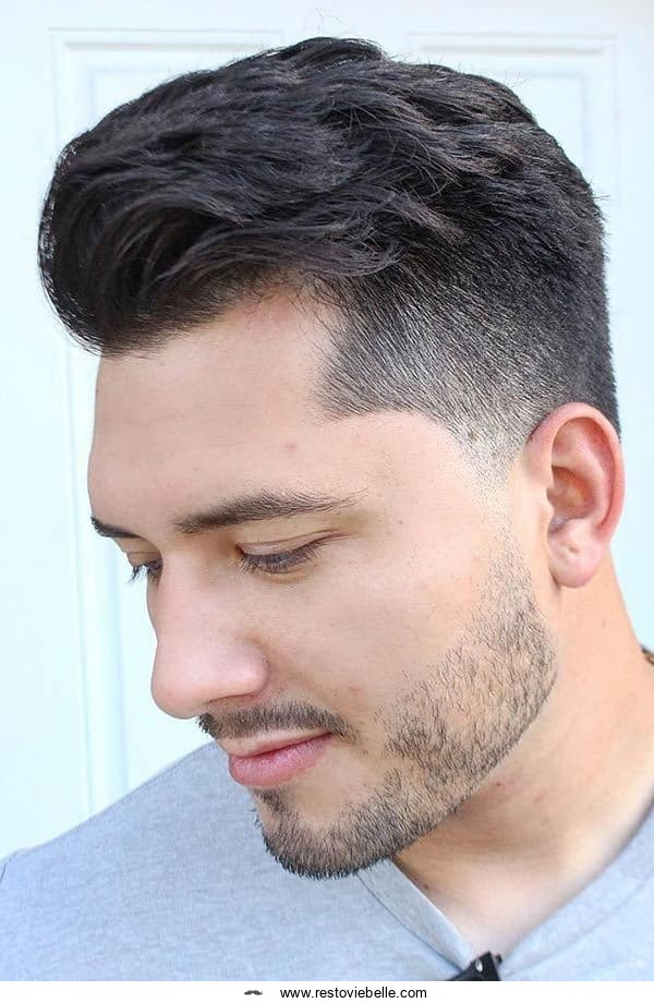 Patchy Beard With Low Fade Haircut