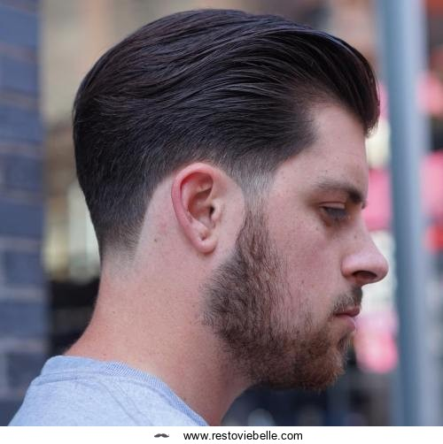 Classic Brushed Back Hairstyle
