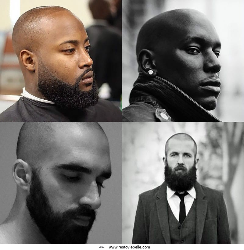 Clean Shave hairstyle for receding hairline