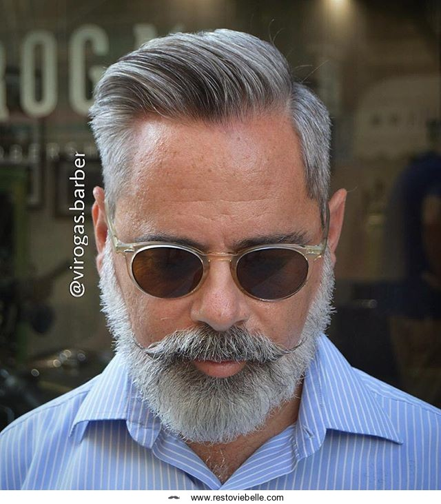 Comb Over Hairstyle For Gray Hair