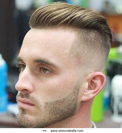 Undercut hairstyle for receding hairline