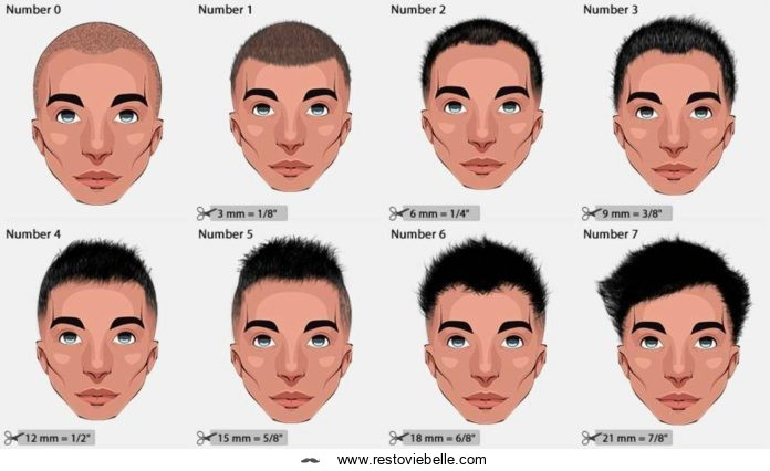 Haircut Numbers and Clipper Guard Sizes