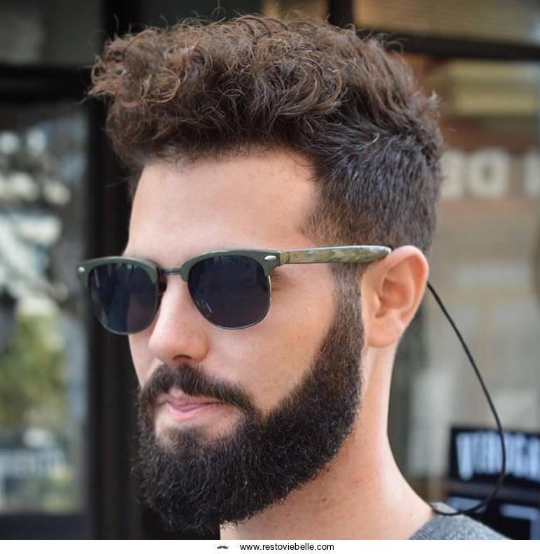 Long Curly Top and Short Sides