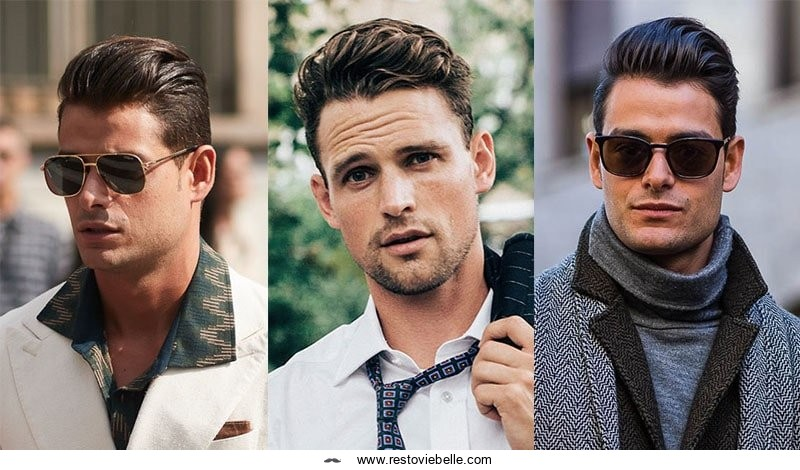 Pompadour hairstyle for men with thick hair