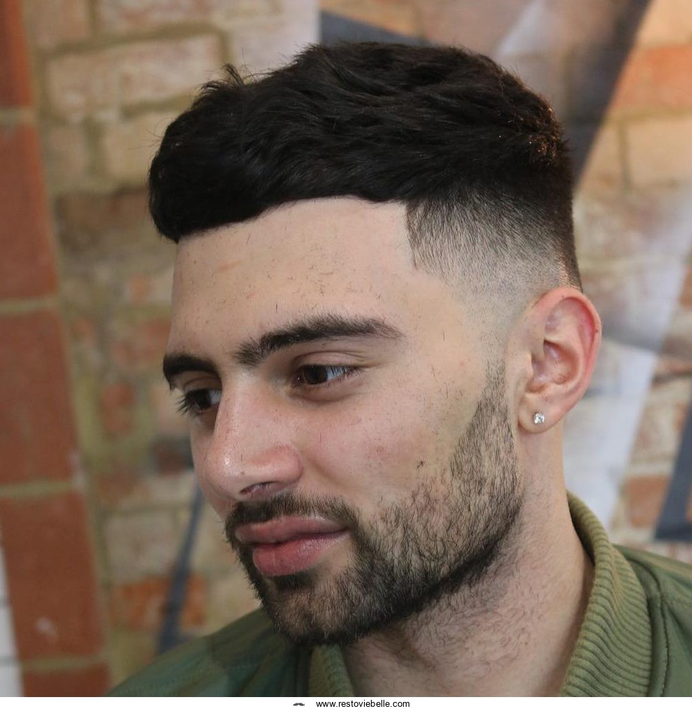 Textured Crop haircut for men with thick hair
